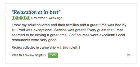 TripAdvisor Jointly Collected Review Sample